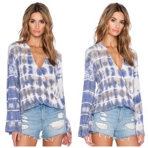 Blue Life grey and white blouse